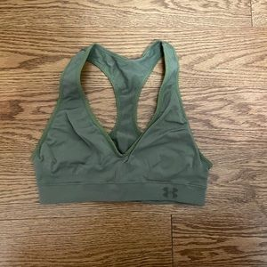 Women's under armour olive green sports bra top